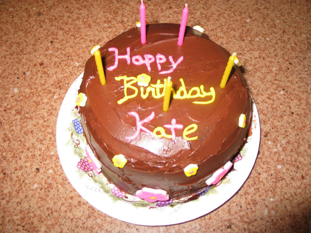 A nice birthday cake for Kate